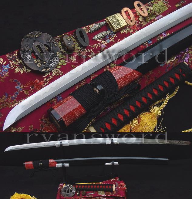 HandForged Katana Clay Tempered Abrasive Blade Sharp