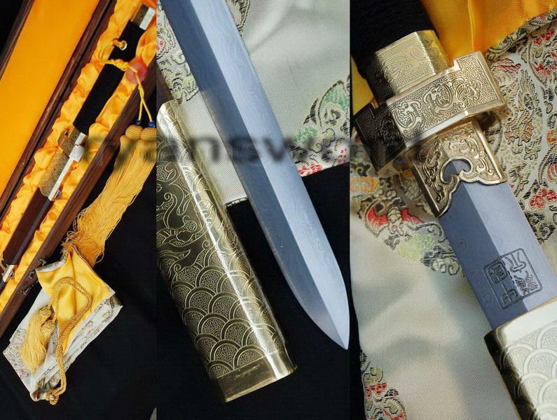 Foldsteel&Sanmai Blade Hualee Scabbard&Handle Chinese Sword