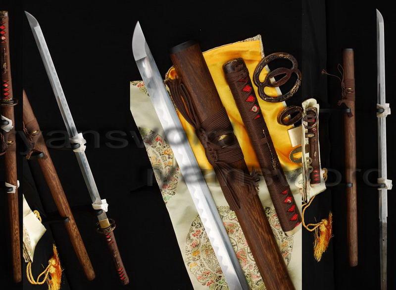 Folded Steel Dragon Carved Musashi Tsuba NINJA SWORD Sharp
