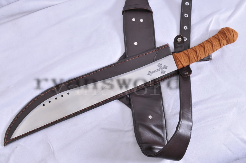 FULL FUNCTIONAL ELI SWORD WITH LEATHER SHEALTH - HEAVY DUTY CUTTING--RYAN1036