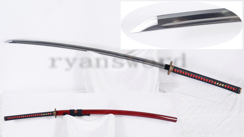 "53"" No-Dachi Japanese Sword 1095 High Carbon Steel Full Tang Functional--Ryan1274"