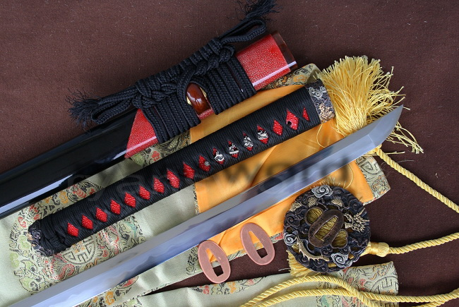 CLAY TEMPERED+ABRASIVE JAPANESE SAMURAI SWORD KATANA--Ryan193