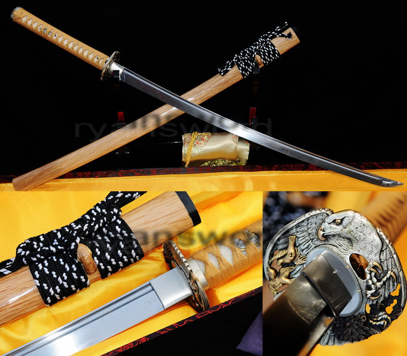 folded steel Japanese samurai full tang katana swordr--ryan219