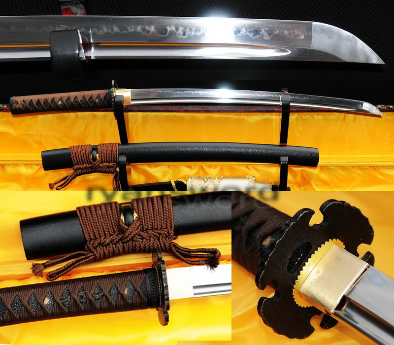Japanese samurai wakizashi sword handmade clay tempered high carbon steel--Ryan301