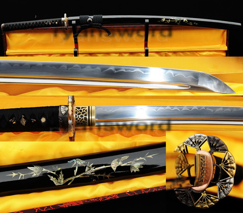 high quality 1095 high carbon steel clay tempered japanese samurai--Ryan303