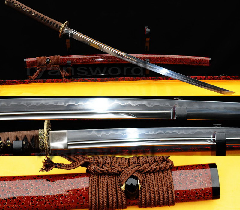 high qualityclay tempered 1095carbon steel japanese katana sword --Ryan308