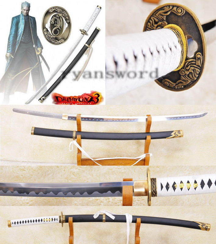 high quality High Carbon Steel(Devil May Cry)sword---traditional handmade yamato in the anime--Ryan901